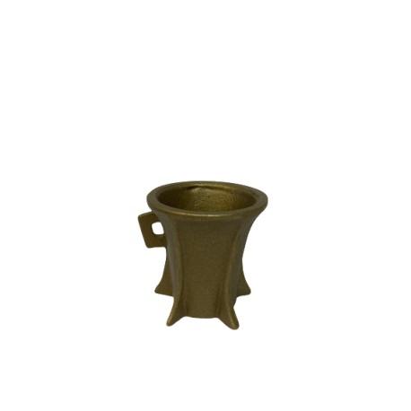 Bronzegefäß Ø 7 cm, Höhe 7,5 cm