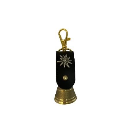 Schlüsselanhänger - Messingglöckchen Ø 3 cm mit Lederband