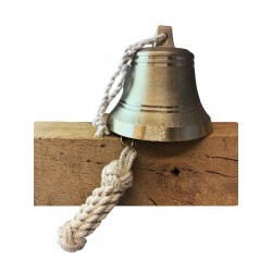SET: Tiroler Glocke Ø 12cm mit Ringklöppel und Läuteseil