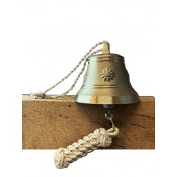 SET: Tiroler Glocke m. Verzierung Ø 12cm mit Ringklöppel und Läuteseil