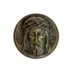 Christusrelief Ø ca. 19 cm