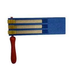 Osterratsche blau - dreifach